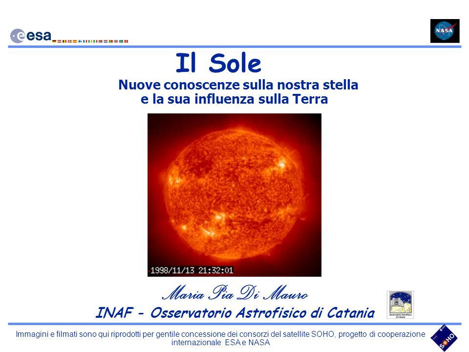 Immagini e filmati sono qui riprodotti per gentile concessione dei consorzi del satellite SOHO, progetto di cooperazione internazionale ESA e NASA La Cromosfera Brillamenti Loops Protuberanze Filamenti Spicole