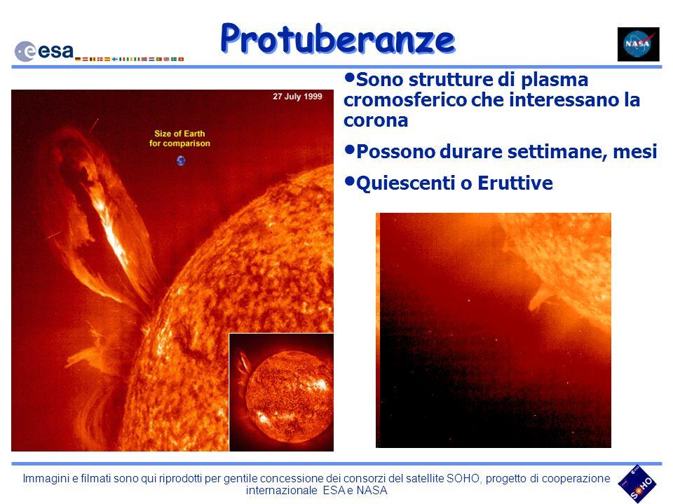 Immagini e filmati sono qui riprodotti per gentile concessione dei consorzi del satellite SOHO, progetto di cooperazione internazionale ESA e NASA Pro