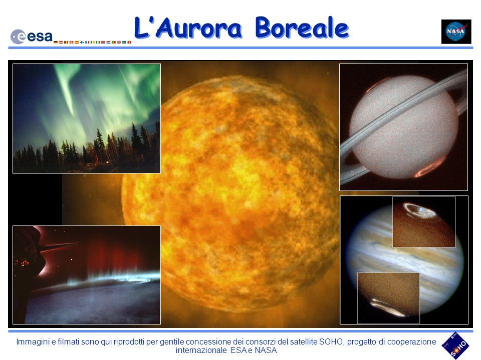 Immagini e filmati sono qui riprodotti per gentile concessione dei consorzi del satellite SOHO, progetto di cooperazione internazionale ESA e NASA LAu