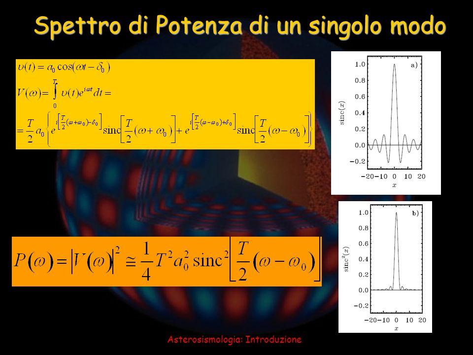Asterosismologia: Introduzione Spettro di Potenza di un singolo modo