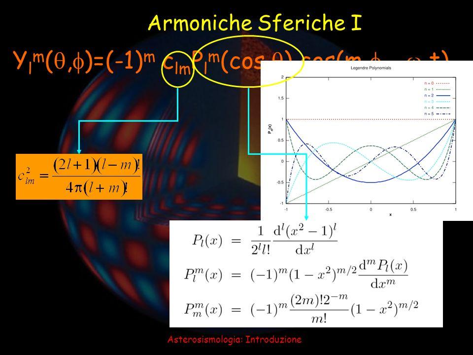 Asterosismologia: Introduzione Armoniche Sferiche II l=0 l=1 l=2