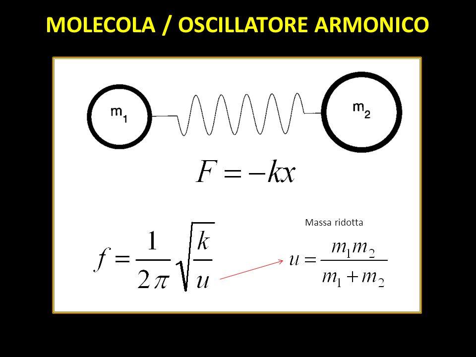 Massa ridotta MOLECOLA / OSCILLATORE ARMONICO