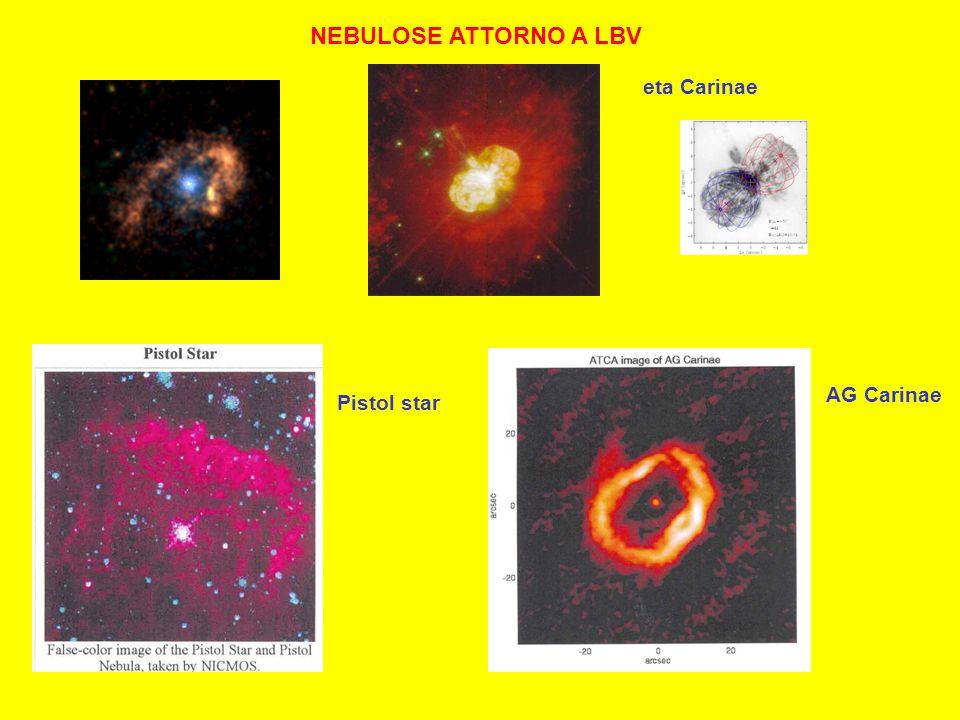 NEBULOSE ATTORNO A LBV eta Carinae Pistol star AG Carinae