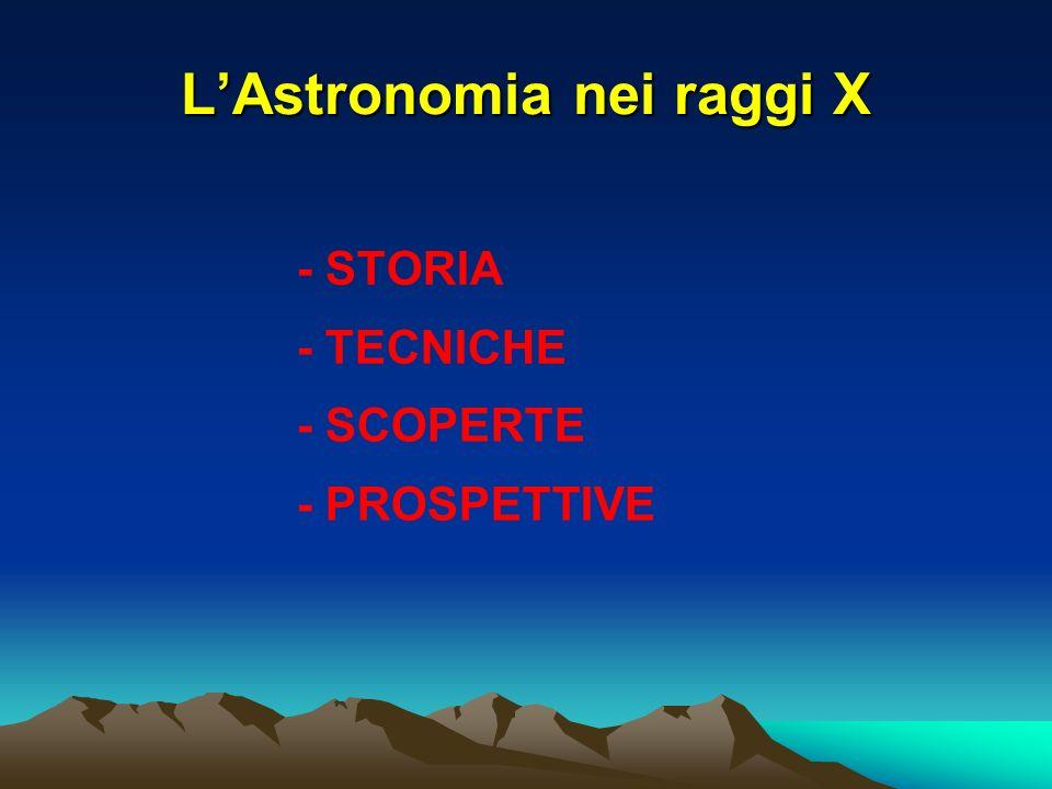 LAstronomia nei raggi X - STORIA - TECNICHE - SCOPERTE - PROSPETTIVE