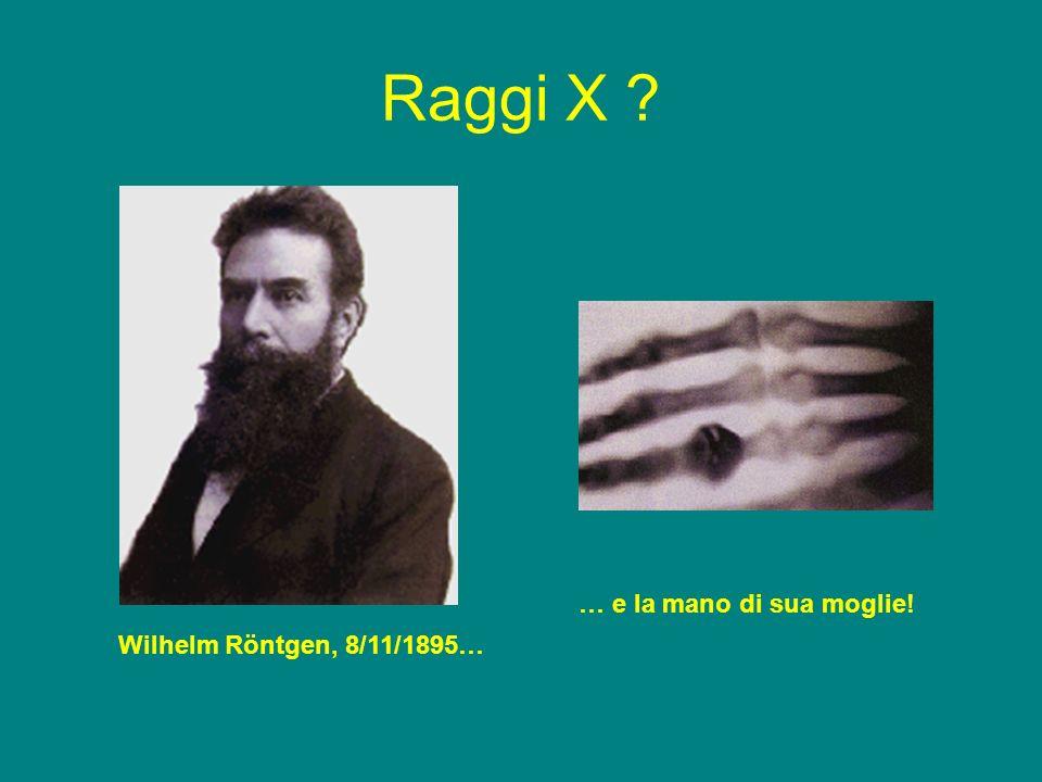 Raggi X Wilhelm Röntgen, 8/11/1895… … e la mano di sua moglie!