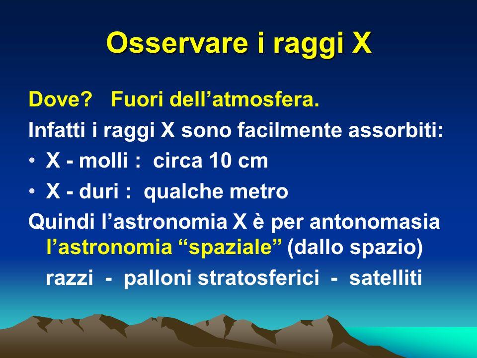 Osservare i raggi X Dove. Fuori dellatmosfera.