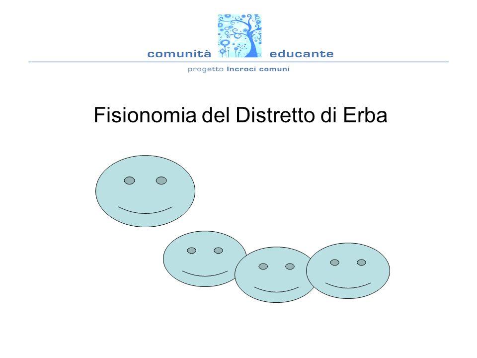 Composizione popolazione Distretto di Erba n.72.480 residenti di cui: n.