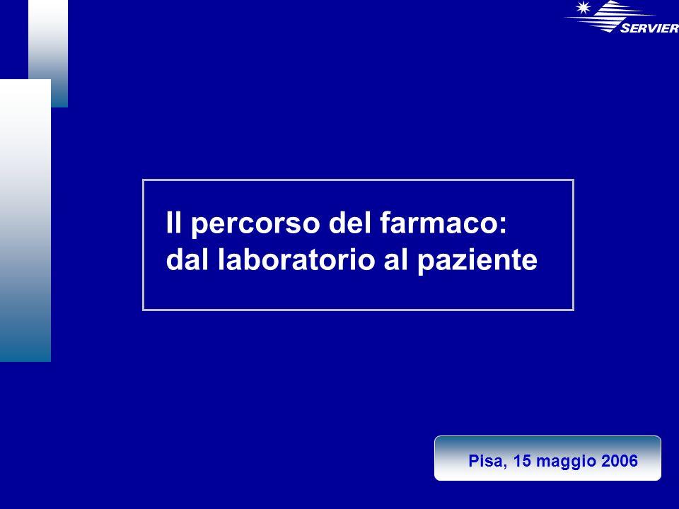 Il percorso del farmaco: dal laboratorio al paziente Pisa, 15 maggio 2006