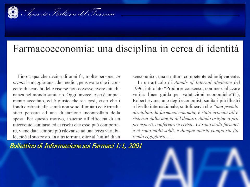 Agenzia Italiana del Farmaco Bollettino di Informazione sui Farmaci 1:1, 2001
