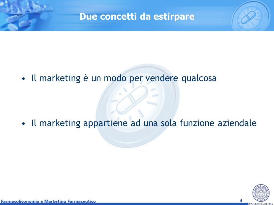 9 Il Processo di Marketing È la forma mentis del marketing manager È Pensare prima di agire.
