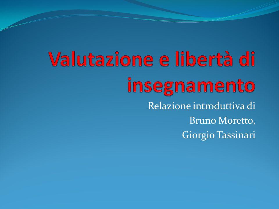 Relazione introduttiva di Bruno Moretto, Giorgio Tassinari