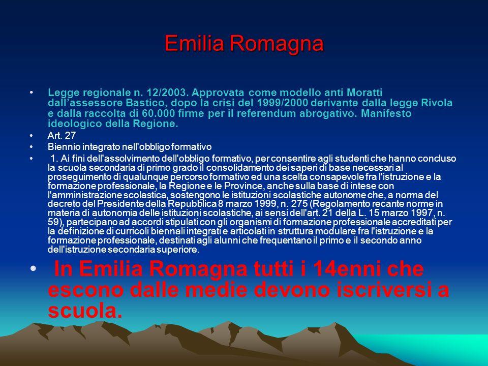 Emilia Romagna Legge regionale n. 12/2003.