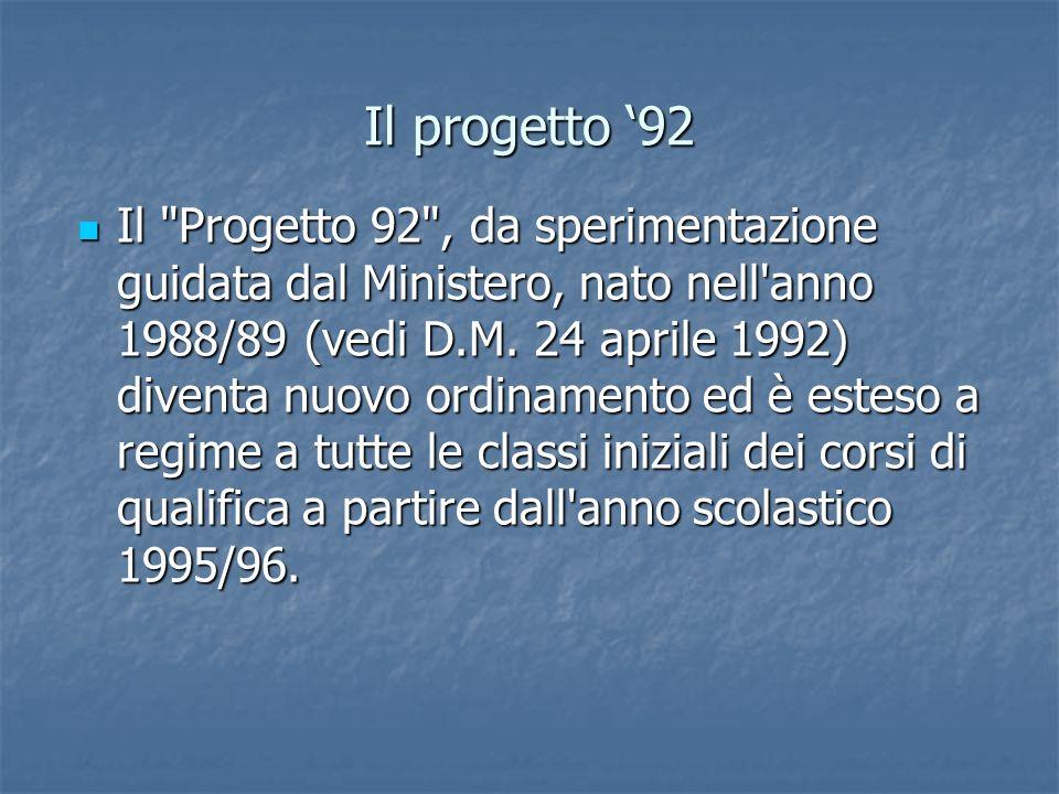 Il progetto 92 Il