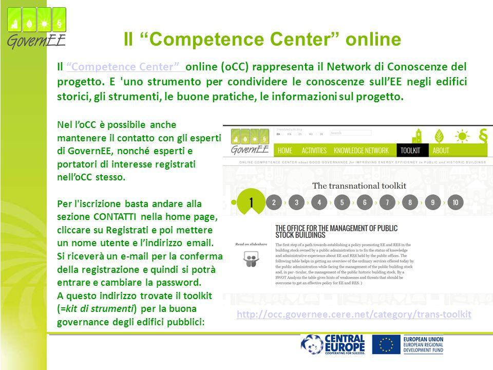 http://occ.governee.cere.net/category/trans-toolkit Nel loCC è possibile anche mantenere il contatto con gli esperti di GovernEE, nonché esperti e portatori di interesse registrati nelloCC stesso.