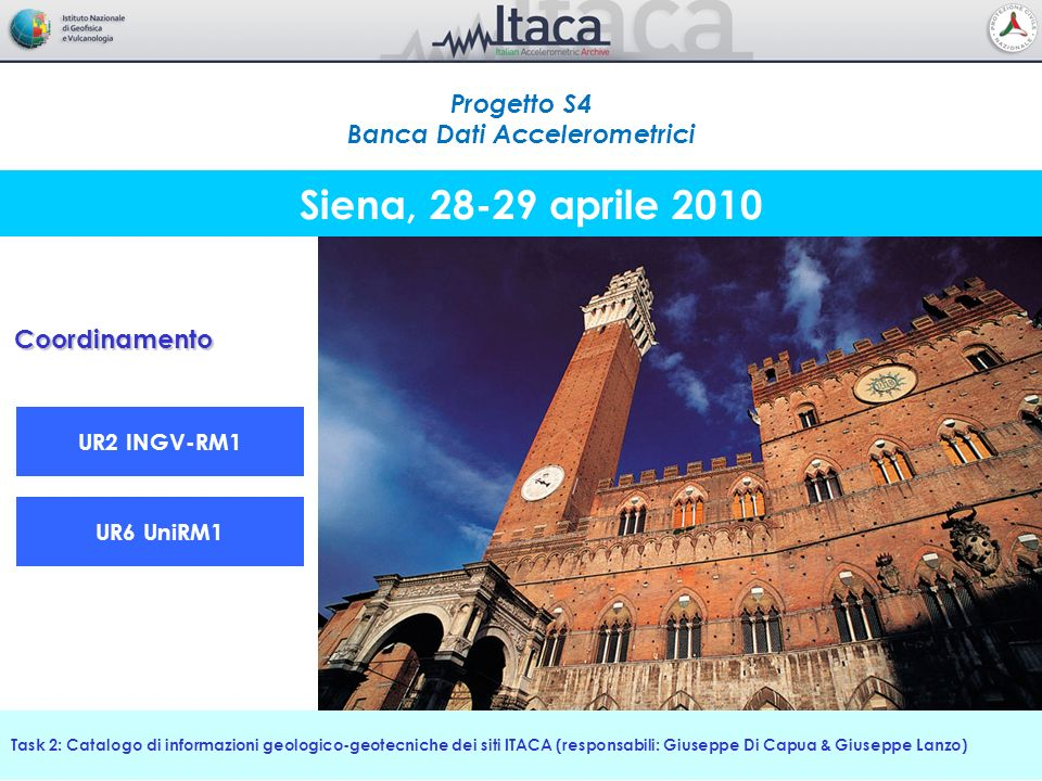Informazioni esistenti intra- ed extra-progetto Monografia di stazione Task 2: Catalogo di informazioni geologico-geotecniche dei siti ITACA Morfologia 174 INGV-RM1 Cerreto di Spoleto