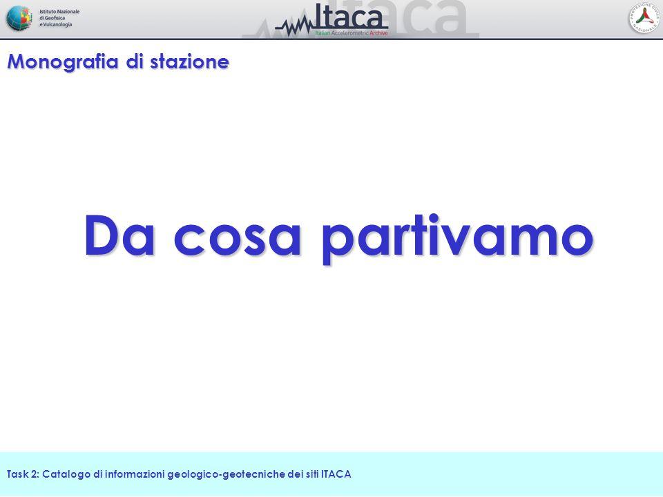 Task 2: Catalogo di informazioni geologico-geotecniche dei siti ITACA Conclusione Riusciremo a riposarci.