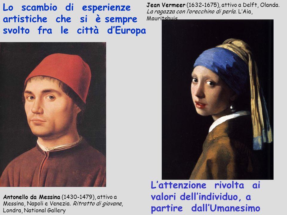 Antonello da Messina (1430-1479), attivo a Messina, Napoli e Venezia. Ritratto di giovane, Londra, National Gallery Lattenzione rivolta ai valori dell