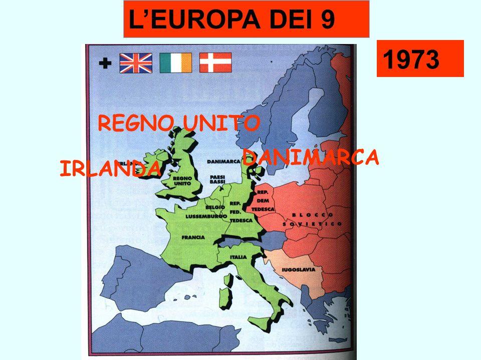 1973 LEUROPA DEI 9 REGNO UNITO DANIMARCA IRLANDA