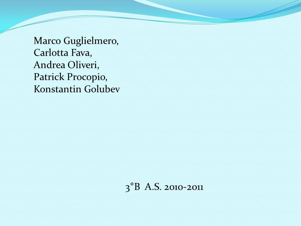 Marco Guglielmero, Carlotta Fava, Andrea Oliveri, Patrick Procopio, Konstantin Golubev 3°B A.S.