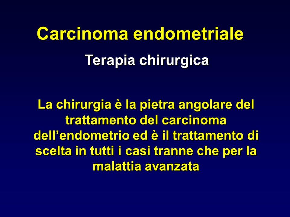 Carcinoma endometriale La chirurgia è la pietra angolare del trattamento del carcinoma dellendometrio ed è il trattamento di scelta in tutti i casi tr