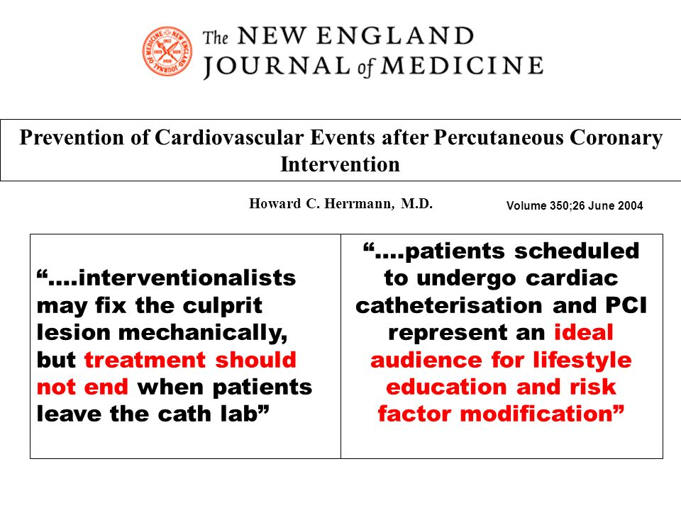 Prevention of Cardiovascular Events after Percutaneous Coronary Intervention Howard C.