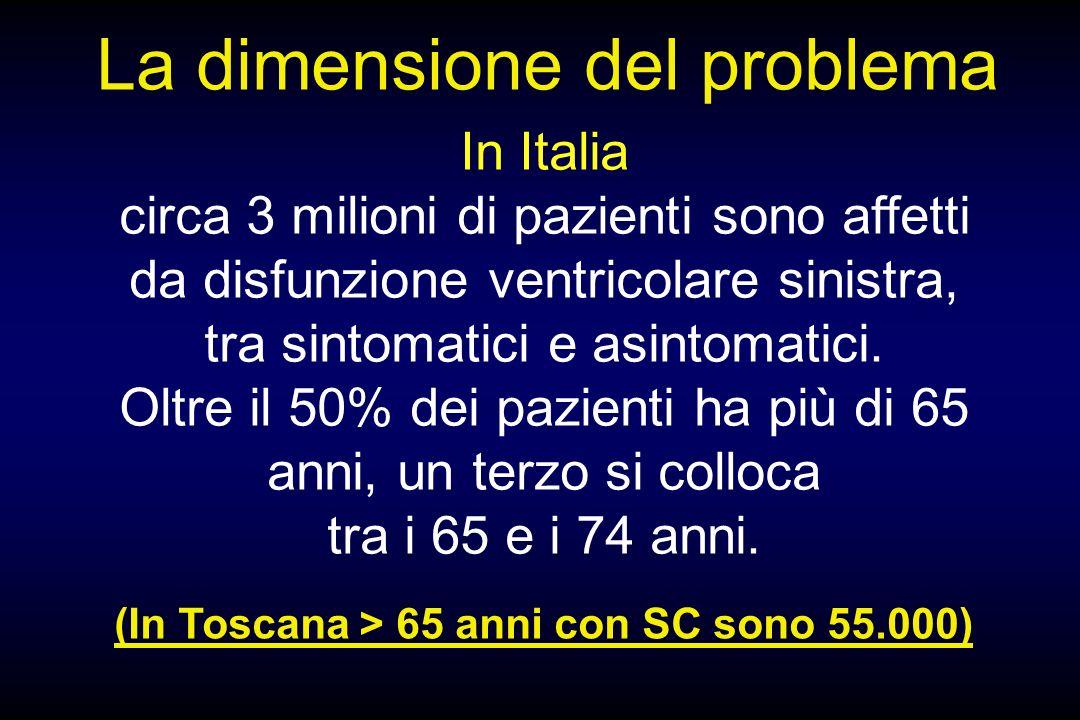 In Italia circa 3 milioni di pazienti sono affetti da disfunzione ventricolare sinistra, tra sintomatici e asintomatici. Oltre il 50% dei pazienti ha
