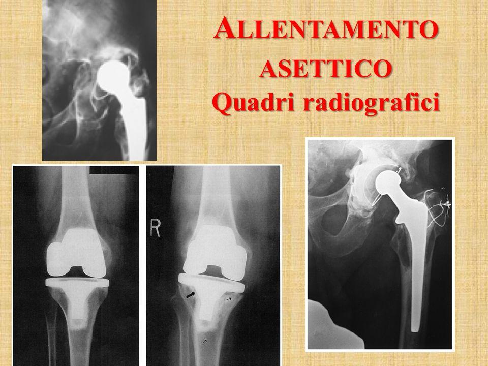 A LLENTAMENTO ASETTICO Quadri radiografici