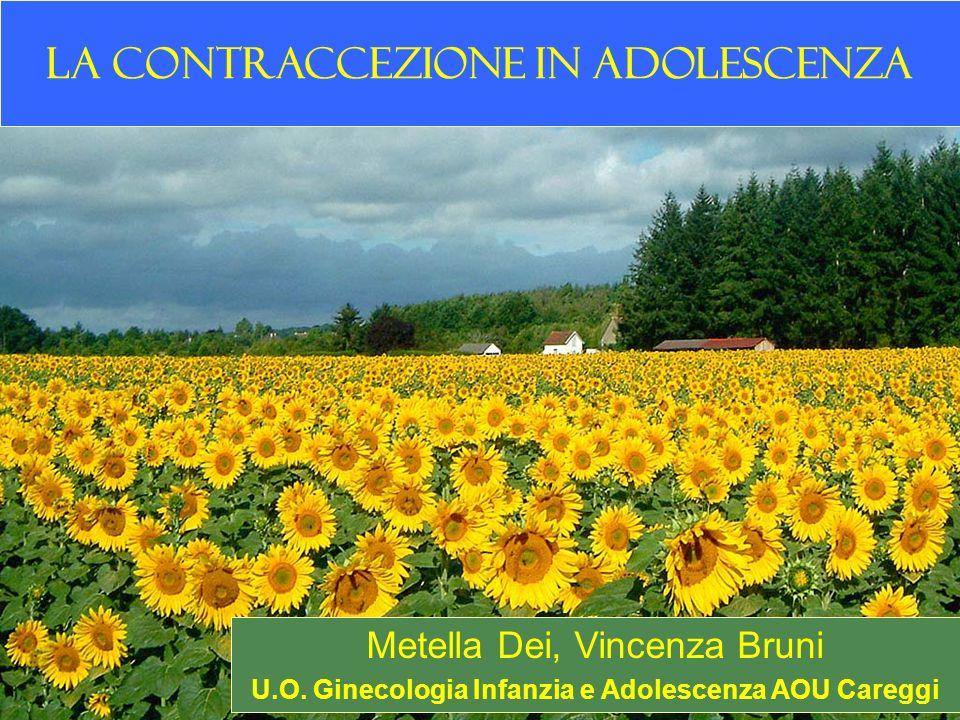 La contraccezione in adolescenza Metella Dei, Vincenza Bruni U.O. Ginecologia Infanzia e Adolescenza AOU Careggi