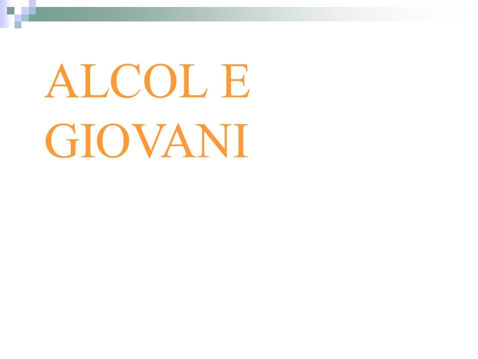 INDAGINE IPSAD (Italian Polulation Survey Alcohol and Drugs) La popolazione di riferimento per lanno 2005 è compresa fra una età di 15 e 54 anni.