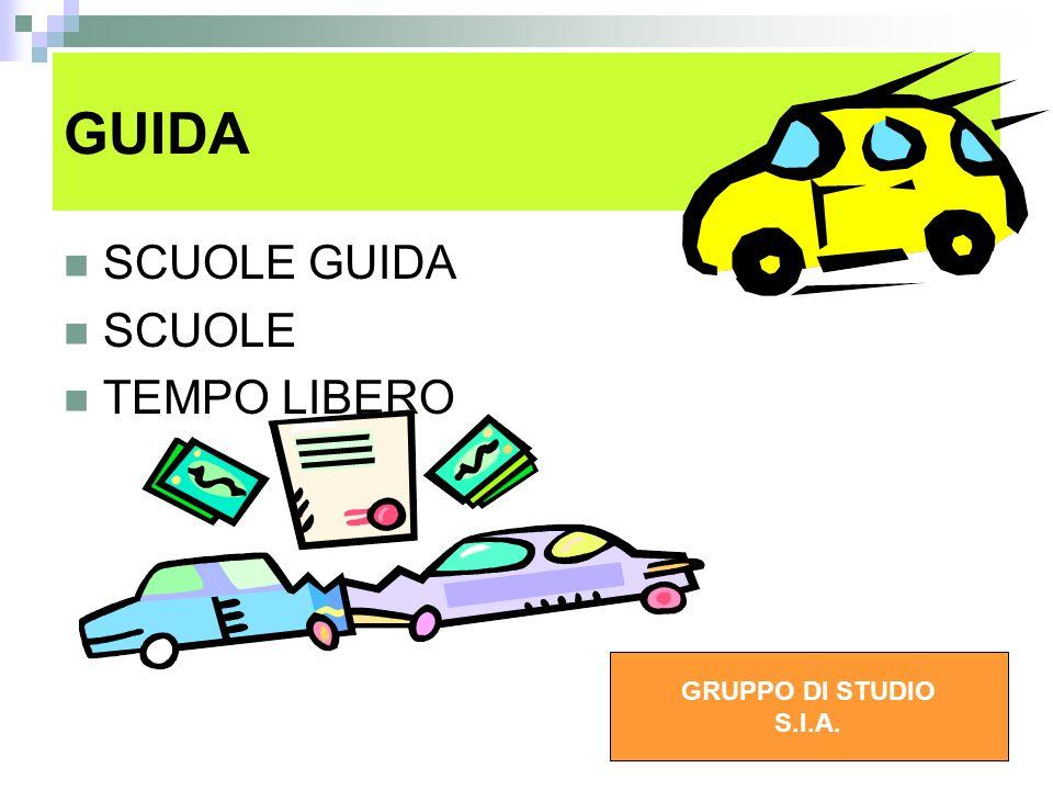 GUIDA SCUOLE GUIDA SCUOLE TEMPO LIBERO GRUPPO DI STUDIO S.I.A.