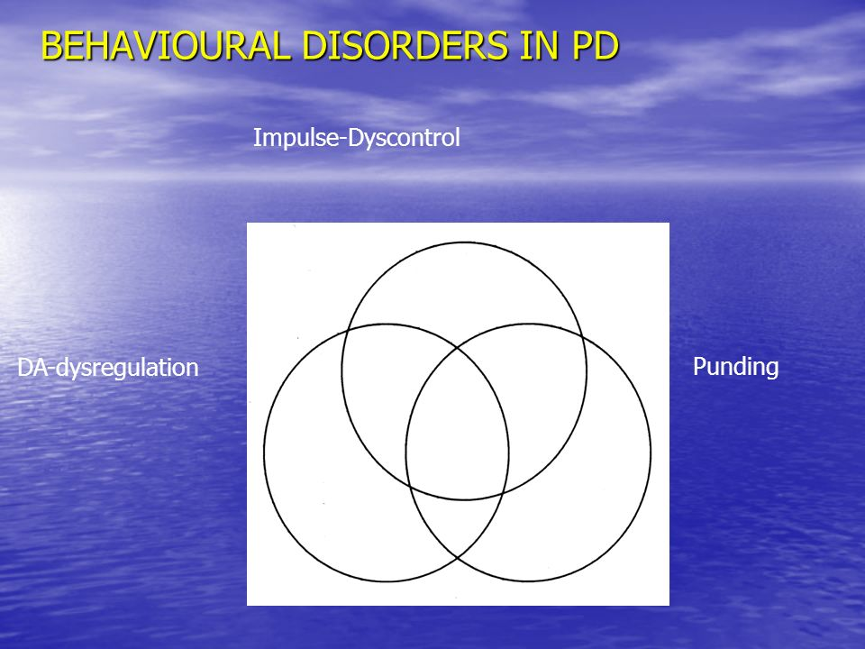 BEHAVIOURAL DISORDERS IN PD DA-dysregulation Impulse-Dyscontrol Punding