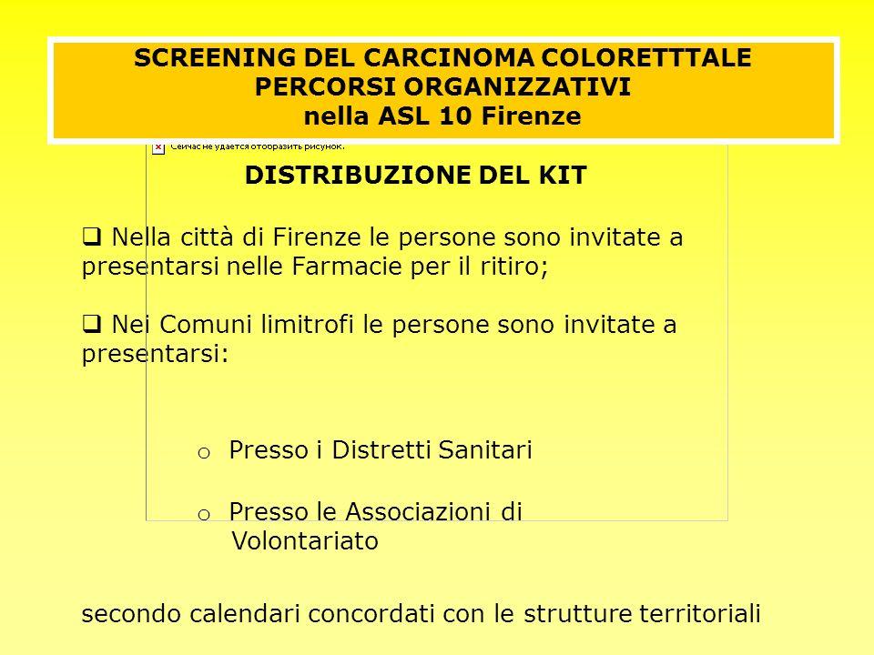 Nella città di Firenze le persone sono invitate a presentarsi nelle Farmacie per il ritiro; Nei Comuni limitrofi le persone sono invitate a presentars