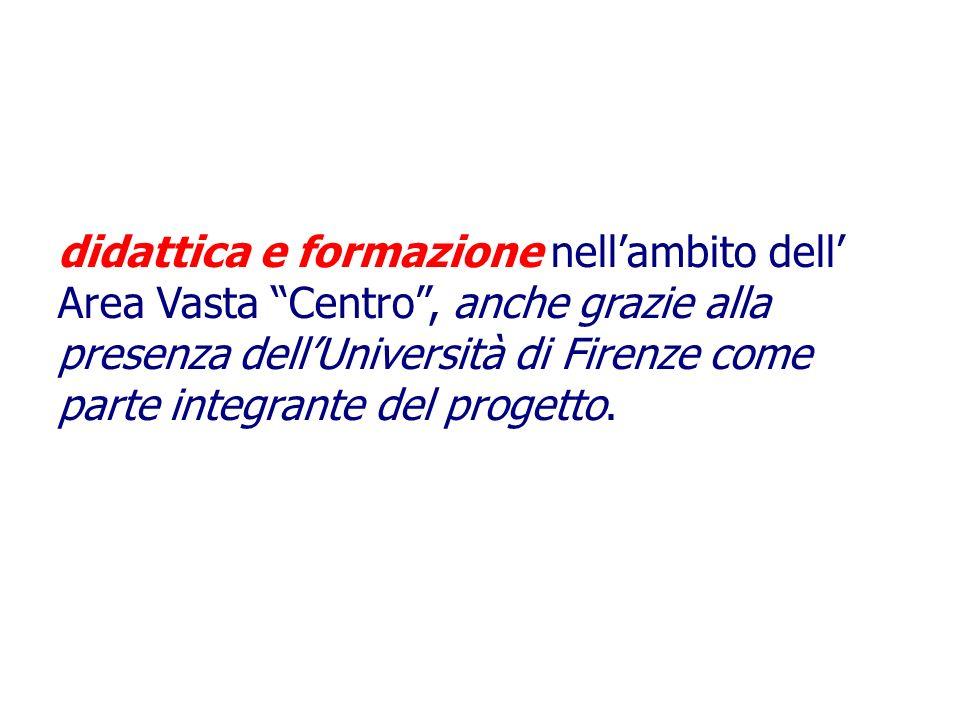 Al contempo consente lo svolgimento di didattica e formazione nellambito dell Area Vasta Centro, anche grazie alla presenza dellUniversità di Firenze come parte integrante del progetto.