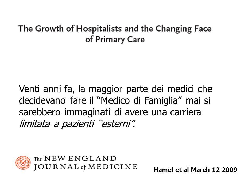 Hamel et al March 12 2009 Venti anni fa, la maggior parte dei medici che decidevano fare il Medico di Famiglia mai si sarebbero immaginati di avere una carriera limitata a pazienti esterni.