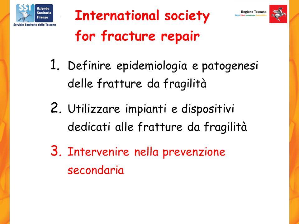 1. Definire epidemiologia e patogenesi delle fratture da fragilità 2. Utilizzare impianti e dispositivi dedicati alle fratture da fragilità 3. Interve