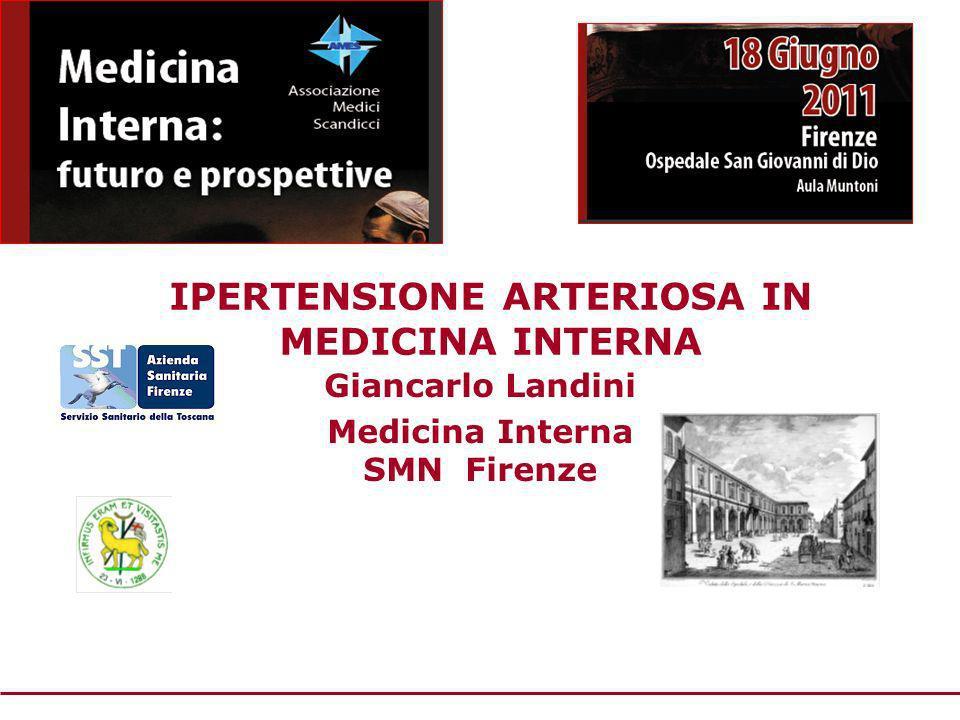 IPERTENSIONE ARTERIOSA IN MEDICINA INTERNA Giancarlo Landini Medicina Interna SMN Firenze