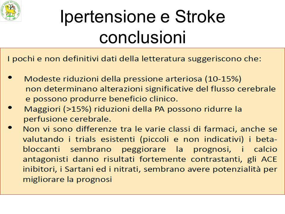 Ipertensione e Stroke conclusioni