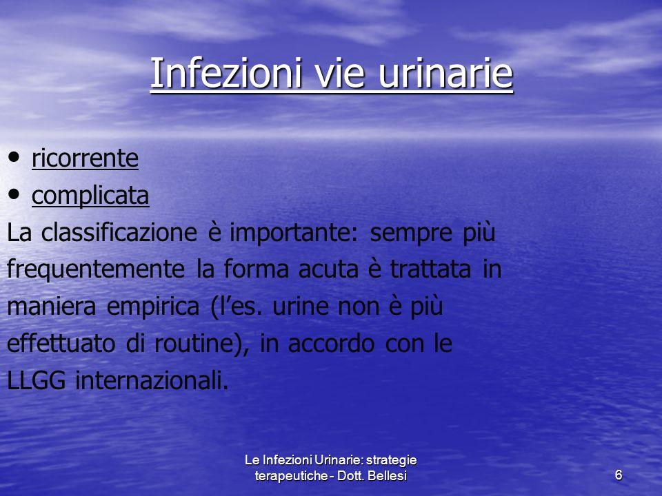Le Infezioni Urinarie: strategie terapeutiche - Dott.