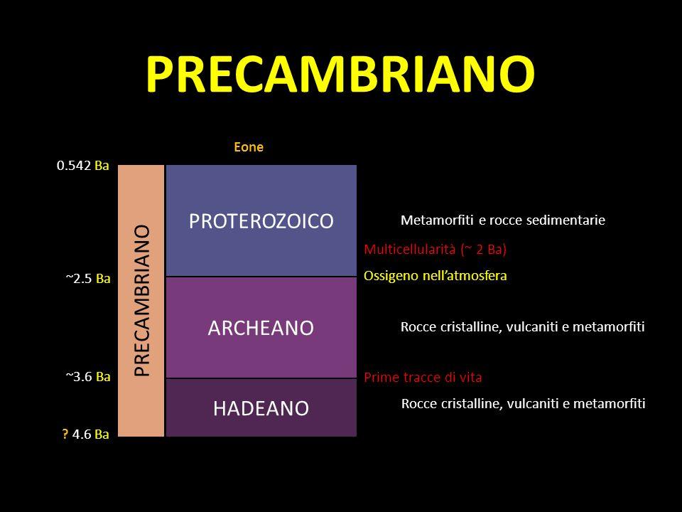 PROTEROZOICO ARCHEANO .