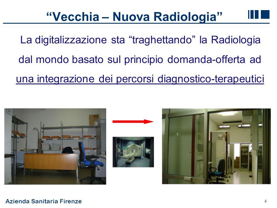 Azienda Sanitaria Firenze 4 Vecchia – Nuova Radiologia La digitalizzazione sta traghettando la Radiologia dal mondo basato sul principio domanda-offer