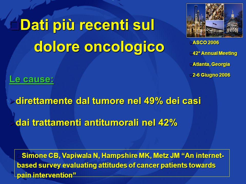 1 Azienda Sanitaria Firenze 5 Dolore e tumore (USA) Prevalenza del dolore relativa al tumore (% per specifica lesione) Leucemia 6 % Linfoma 20% Ca gastrico66% Ca intestino tenue, trachea, laringe70% Ca prostata e sist.