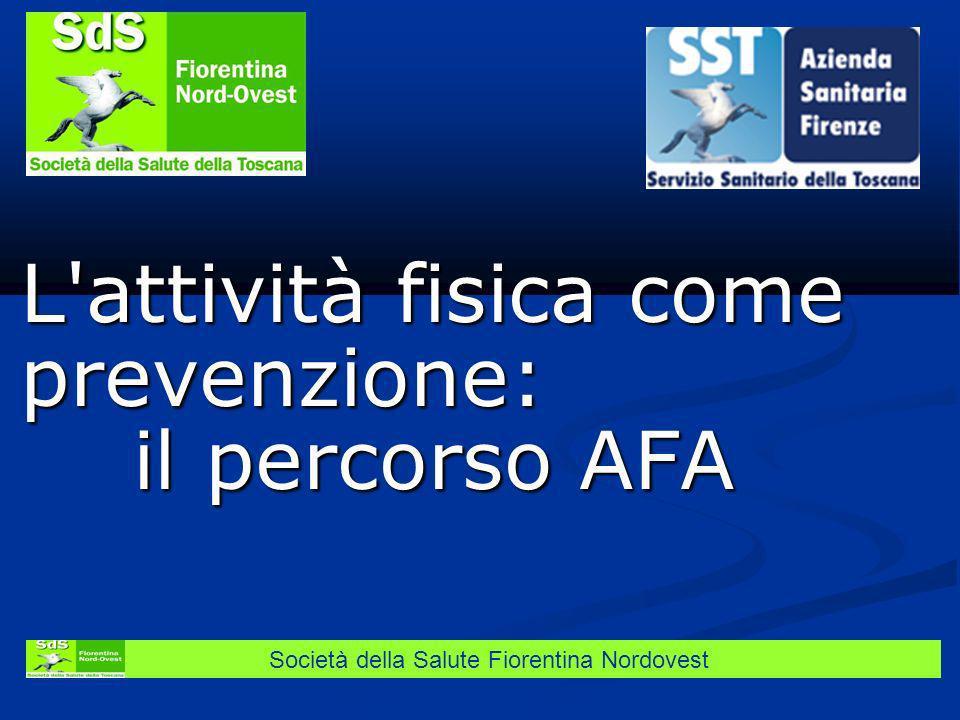 Società della Salute Fiorentina Nordovest L'attività fisica come prevenzione: il percorso AFA il percorso AFA