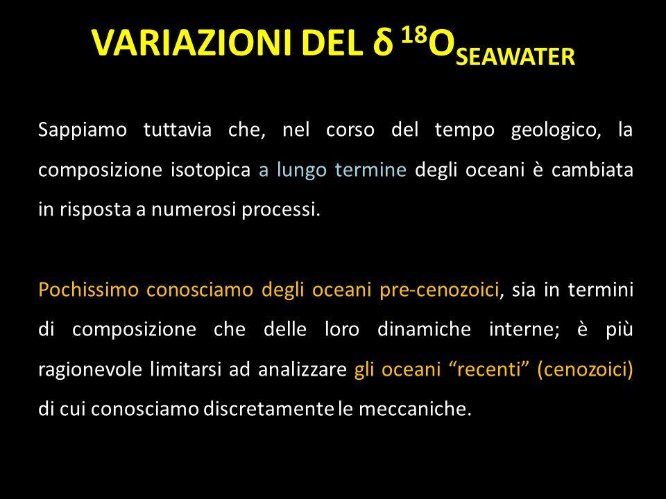 Sappiamo tuttavia che, nel corso del tempo geologico, la composizione isotopica a lungo termine degli oceani è cambiata in risposta a numerosi process