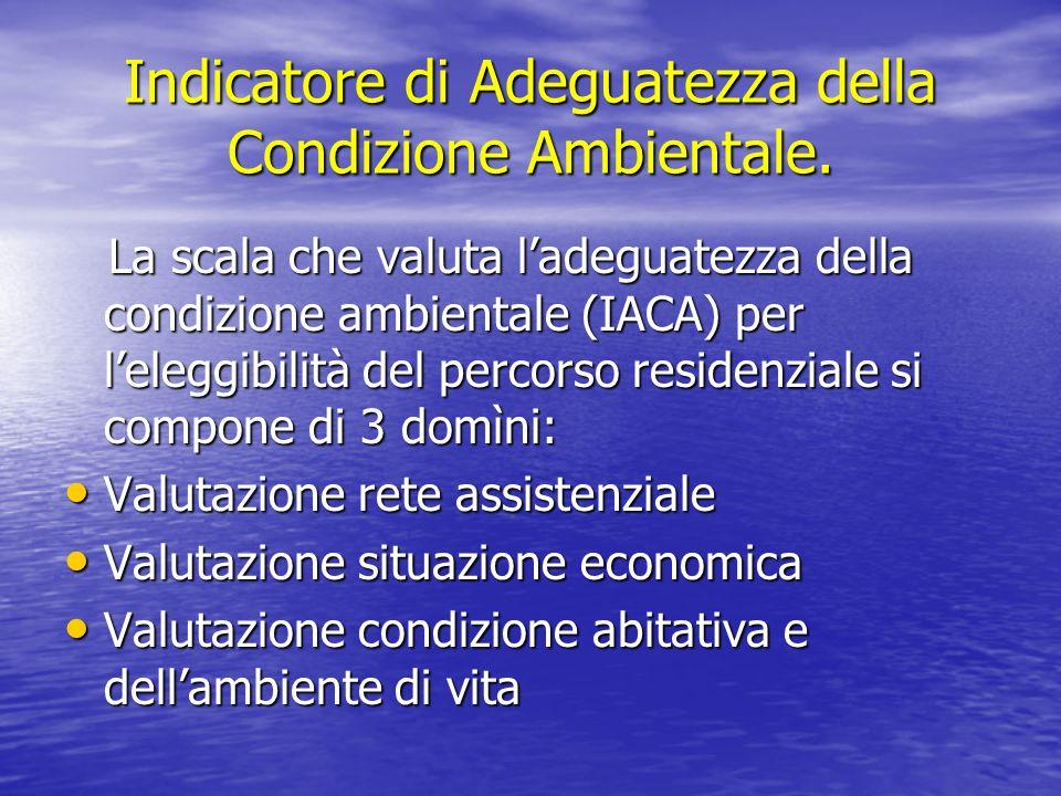 Indicatore di Adeguatezza della Condizione Ambientale. La scala che valuta ladeguatezza della condizione ambientale (IACA) per leleggibilità del perco