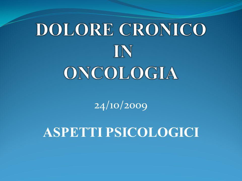 24/10/2009 ASPETTI PSICOLOGICI