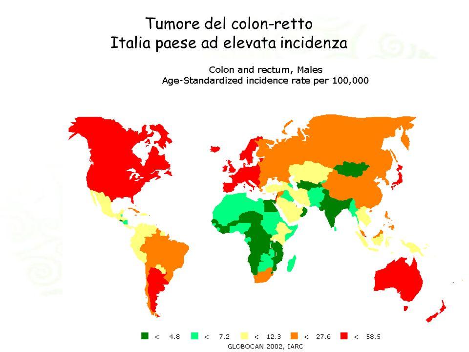 Tumore del colon-retto Italia paese ad elevata incidenza