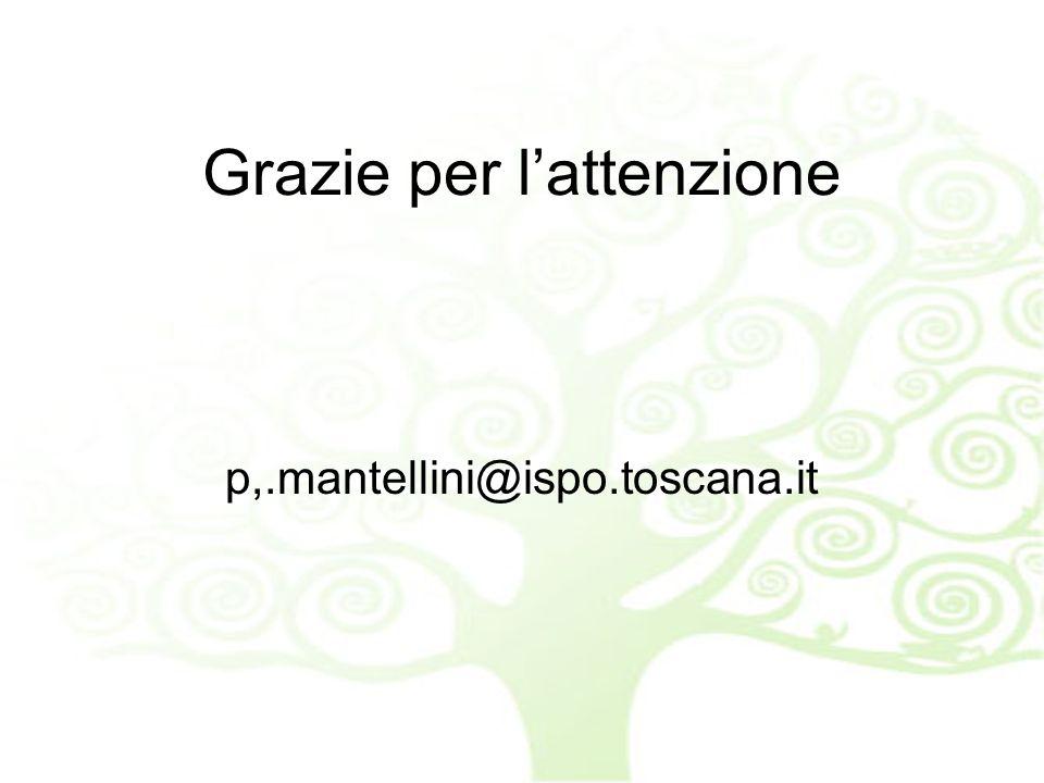 Grazie per lattenzione p,.mantellini@ispo.toscana.it
