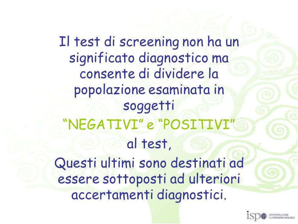 Test per la ricerca del sangue occulto fecale (FOBT) Test endoscopici Colonscopia virtuale.