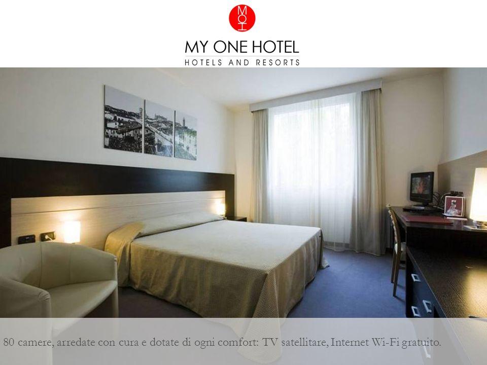 80 camere, arredate con cura e dotate di ogni comfort: TV satellitare, Internet Wi-Fi gratuito.