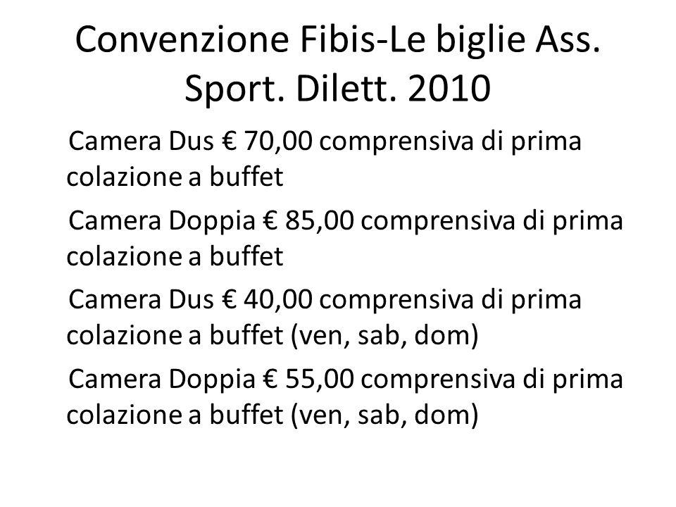Convenzione Fibis-Le biglie Ass.Sport. Dilett.